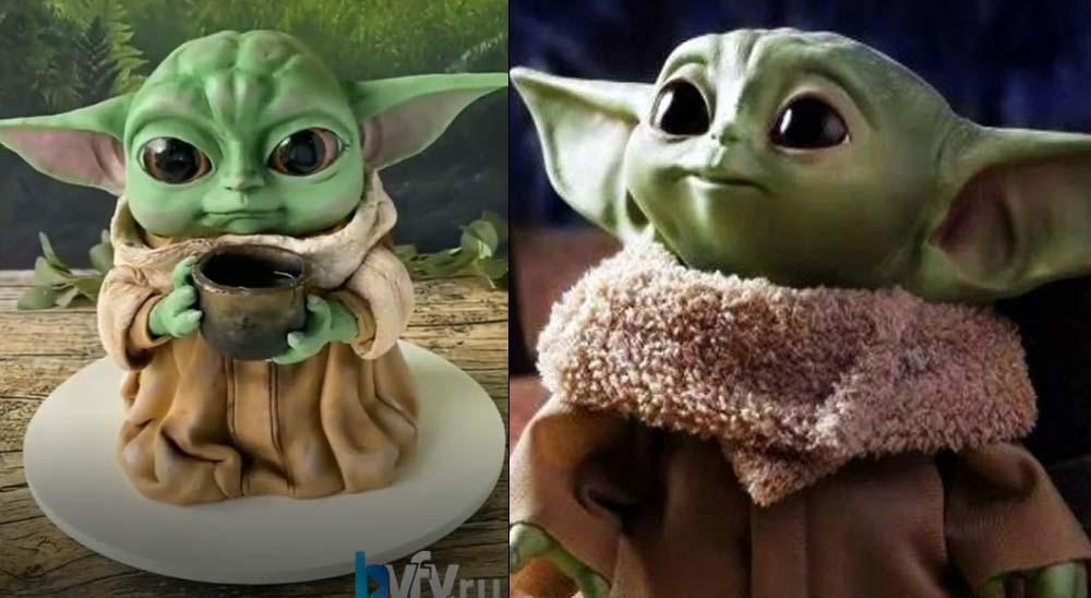 Mira que tarta de Baby Yoda hace este pastelero 8