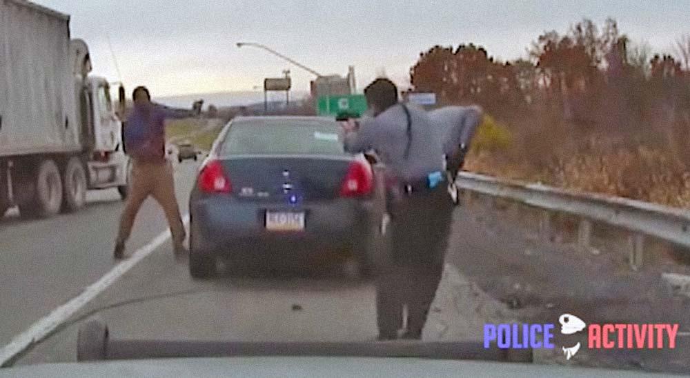 Conductor borracho termina disparando a los policías 5