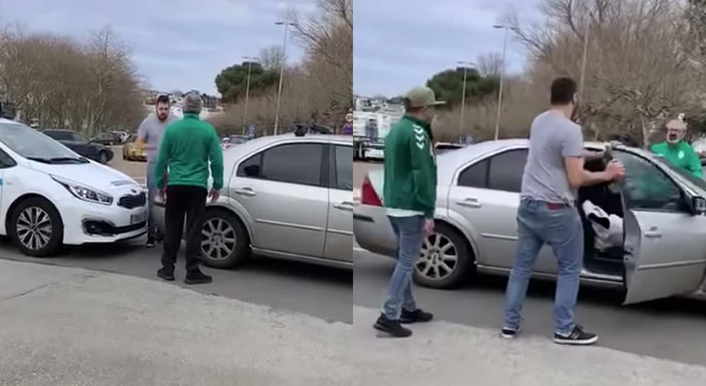 Vídeo de la pelea entre un taxista y un aficionado del Racing 2