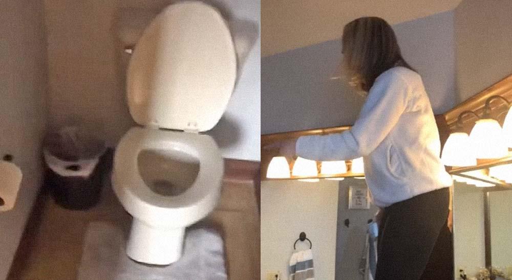 Encuentra una ardilla en el baño y su marido no la cree 1