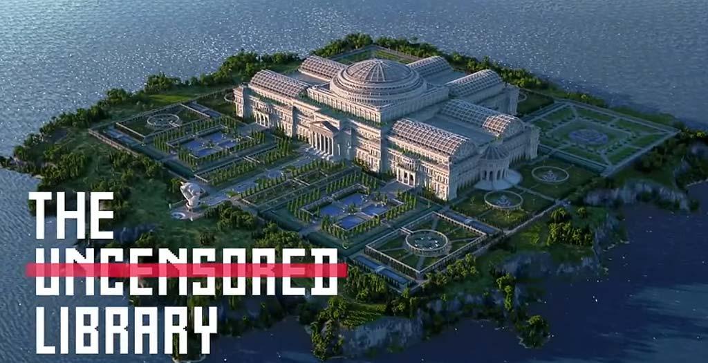 Crean una biblioteca en Minecraft para eludir la censura 6