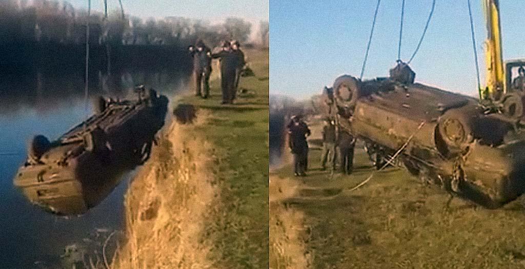 Recuperan un coche hundido en un río y lleva una sorpresa dentro 7