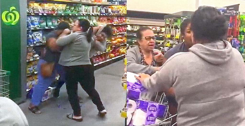 Mujeres pelean en un supermercado por el ultimo rollo de papel higiénico 6