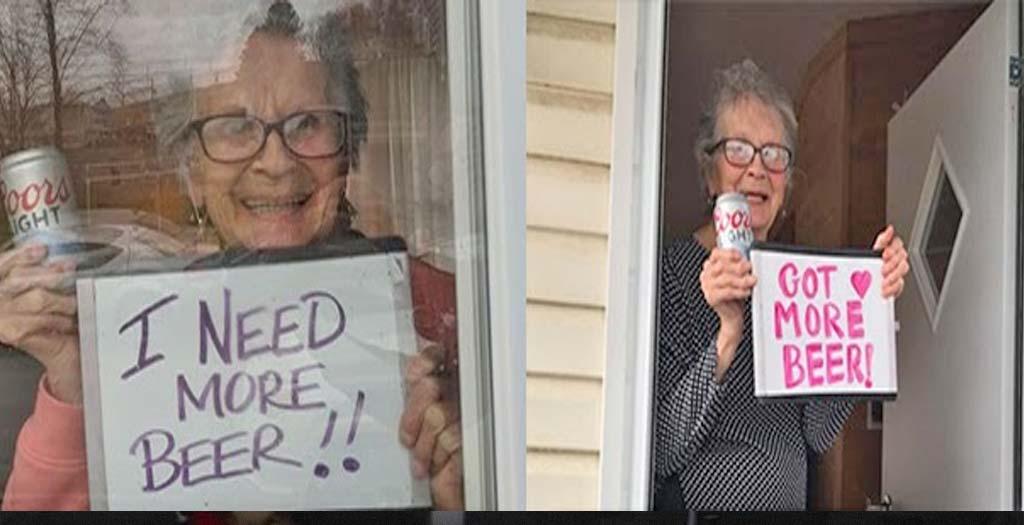 Entregan 10 cajas de cerveza a una abuela de 93 años confinada en casa por el coronavirus 6