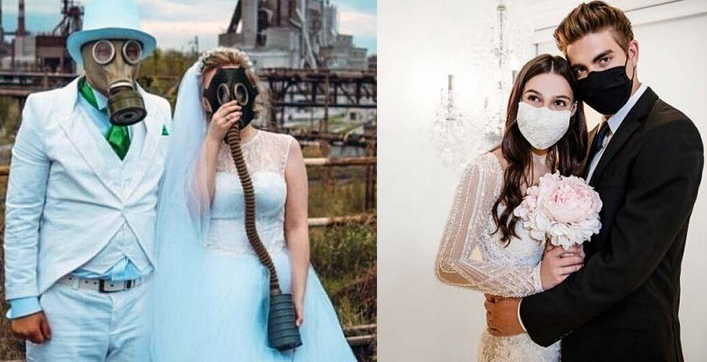 15 Parejas que han decidido casarse en plena pandemia 7
