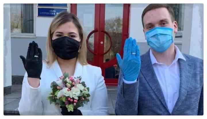 15 Parejas que han decidido casarse en plena pandemia 5