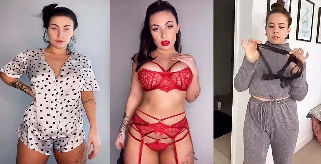 El challenge más picante de Tik Tok, el cambio de pijama a lencería se hace viral 3