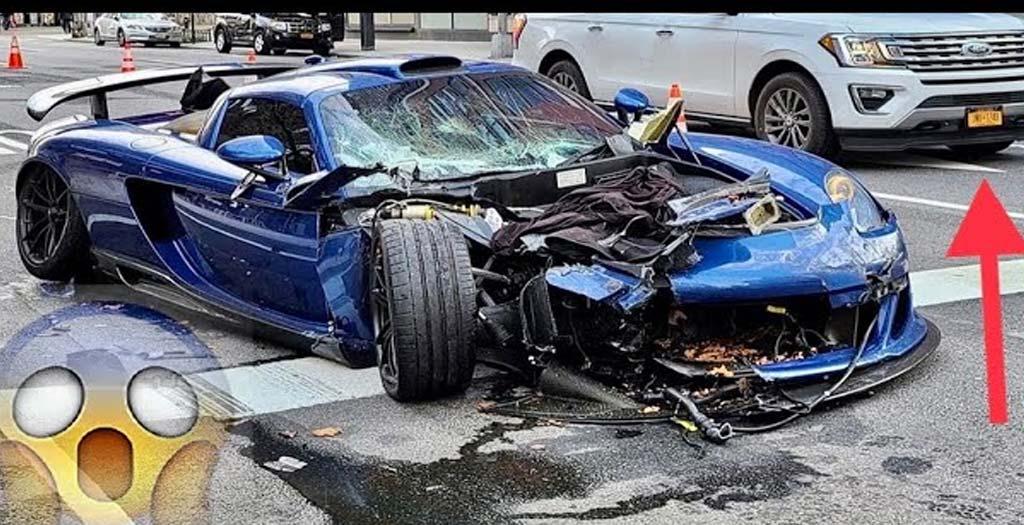 Aprovecha las calles desiertas de Manhattan para correr con su Gemballa Mirage GT y termina estrellándose 6