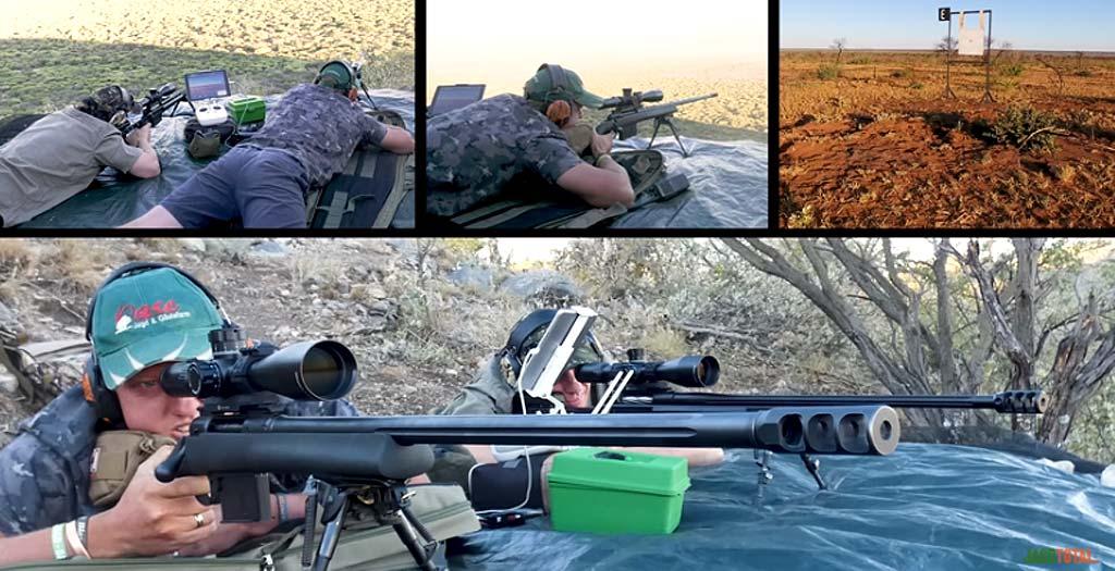 Francotirador disparando a 2.100 metros de distancia a un objetivo de 50x50cm 4