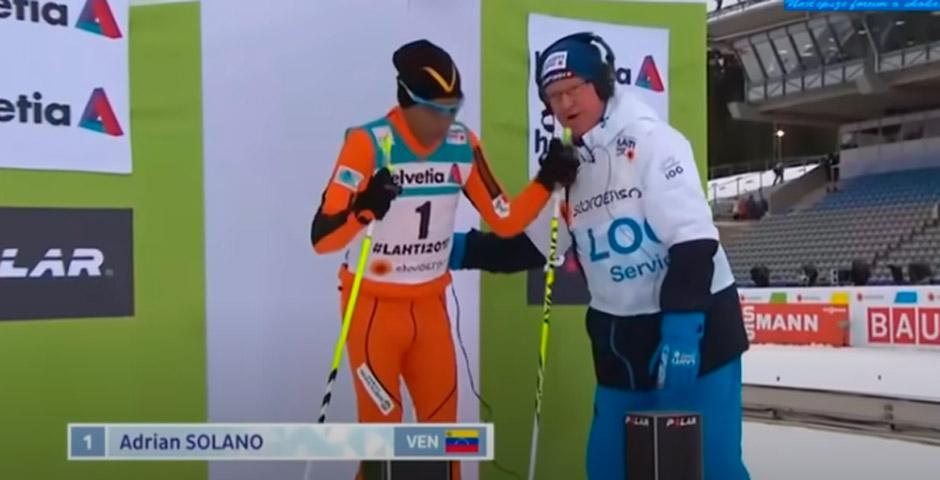 Adrian Solano, el esquiador Venezolano que se presento a unos campeonatos sin saber esquiar 2