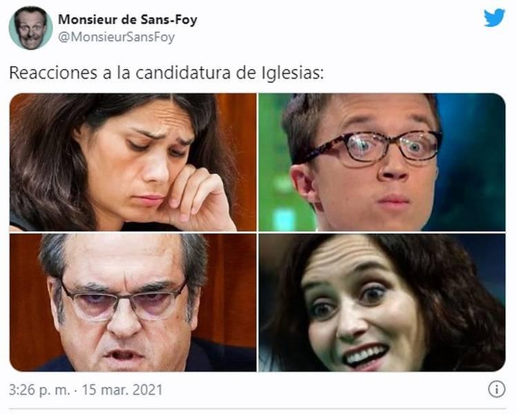 Los memes de la candidatura de Pablo Iglesias por Madrid 9