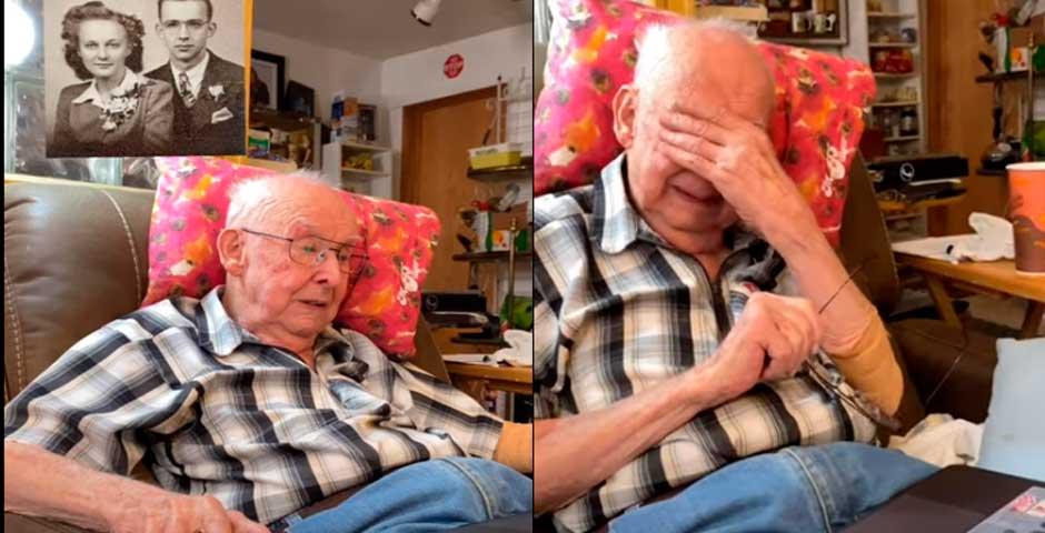 No te pierdas la tierna reacción de este abuelo al ver la foto animada de su mujer 19