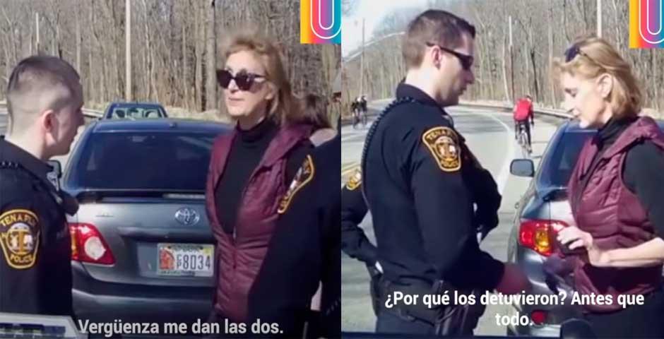 Esta mujer intenta acobardar a los policías que han parado a su hija y una amiga 1