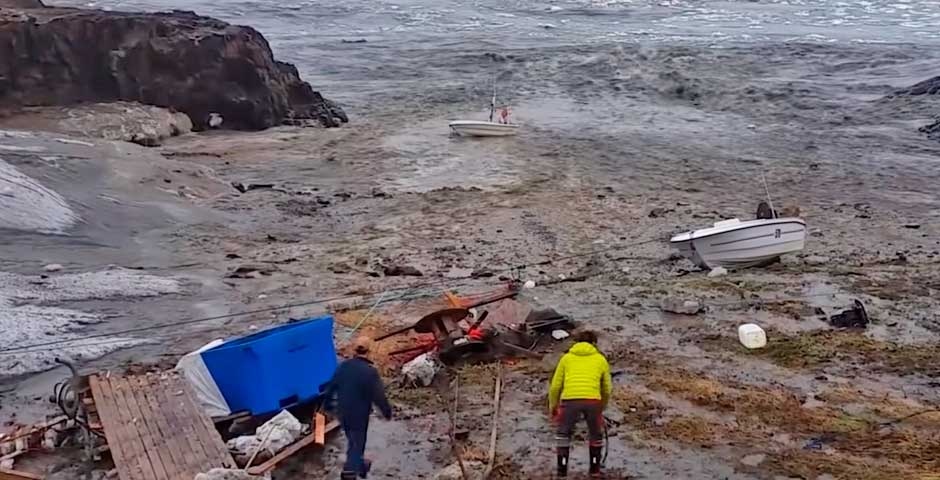 Tsunami en Groenlandia sorprende a estos pescadores 4