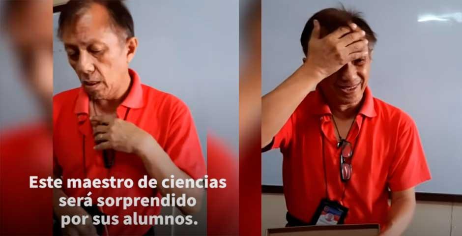 La sorpresa que le dan sus alumnos, hace llorar a este profesor de ciencia 2