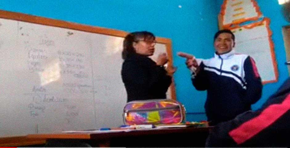 Una clase de educación Sexual en Perú 2