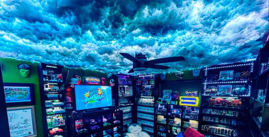 Creando un cielo de nubes usando luces leds 8