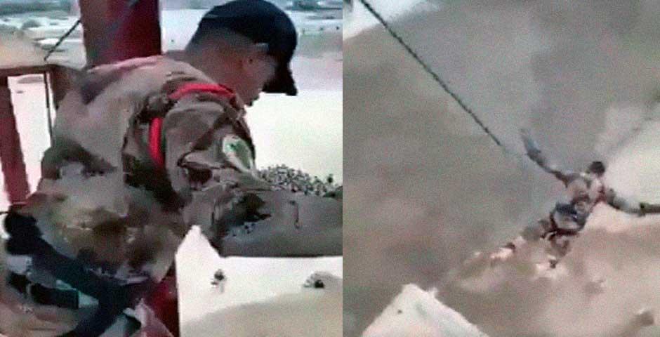 Soldado salta desde una torre con un trágico final 4