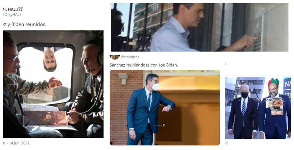 Los 12 mejores memes del breve encuentro entre Sánchez y Biden 3