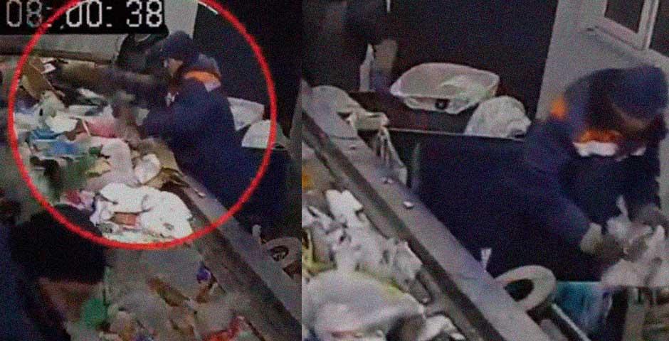 Lo que encuentra este operario entre la basura ha conmocionado al mundo 1
