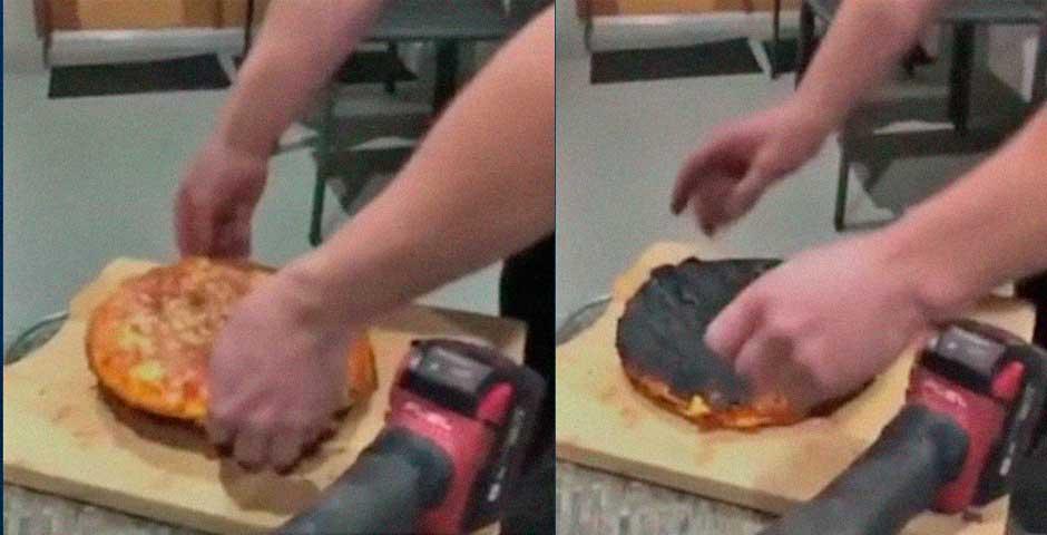 Truco para cuando se te quema el culo de la pizza 8