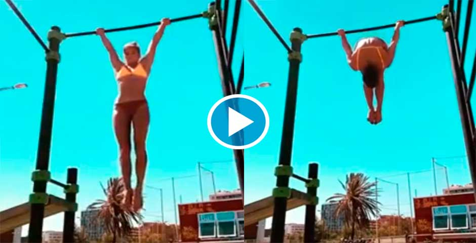 Mira lo que es capaz de hacer esta chica del vídeo 5