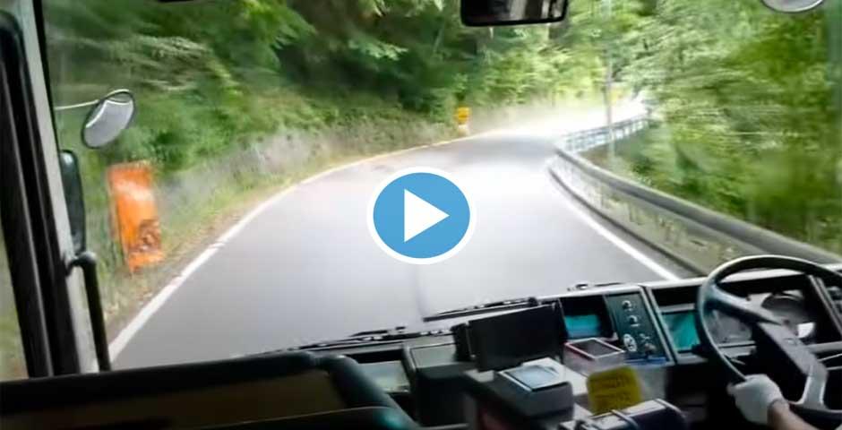 Este conductor de autobús Japonés, esta muy loco 5