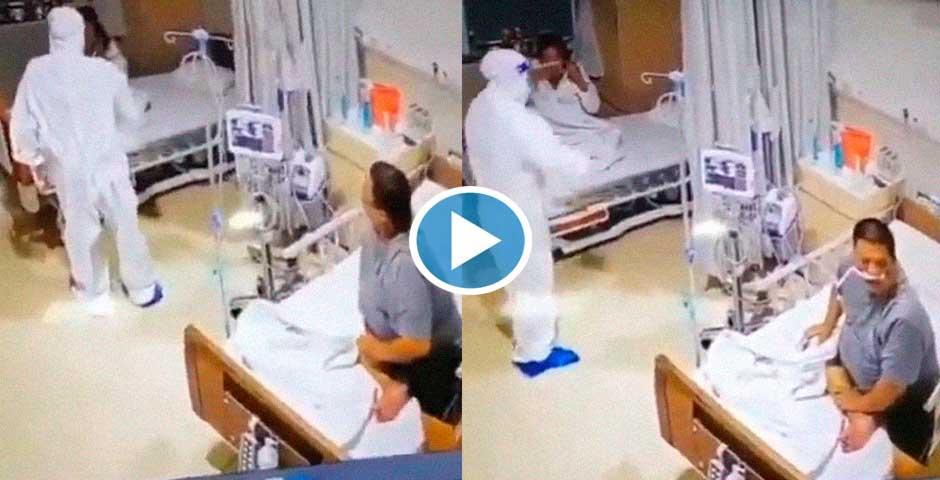 Menudo susto le meten a esta paciente 3